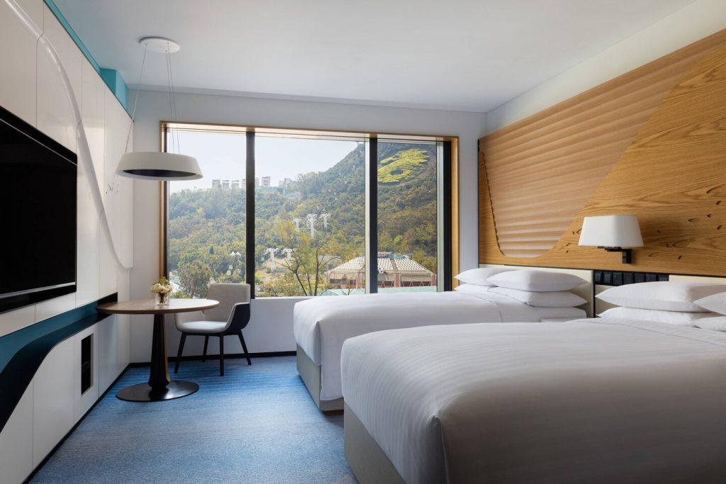 海洋公園萬豪酒店 Hong Kong Ocean Park Marriott Hotel 豪華客房雙人床Double/Double Deluxe Guest Room